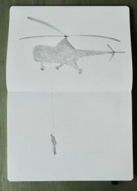 2 Sikorsky met figuurtje Geert Jan v Oostende klein